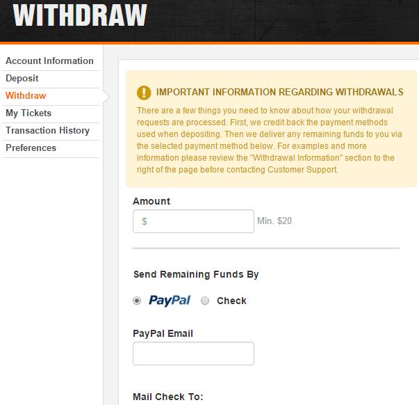 DraftKings Withdrawal